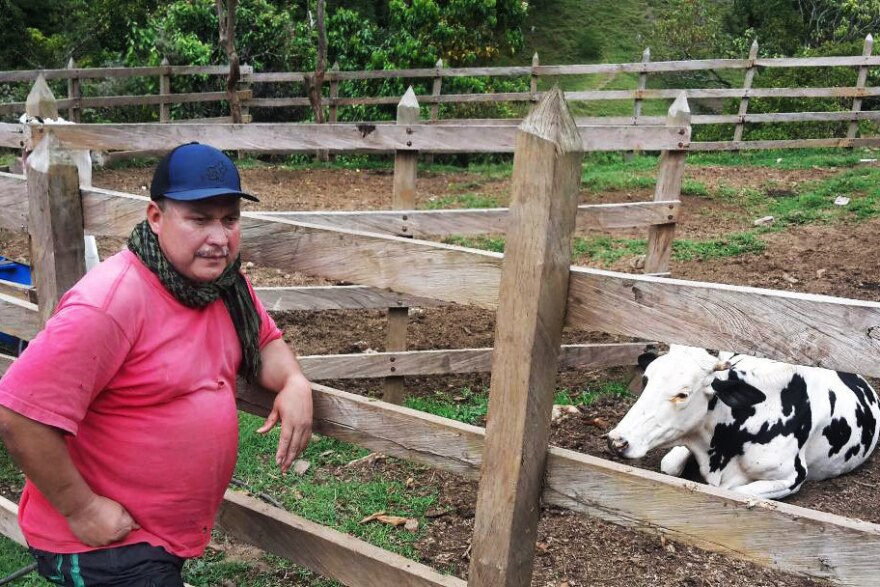 "Juan de Diós Quintero is a former rebel commander turned farmer. The killings ""have generated a lot of anxiety,"" he says. ""We are very worried."""