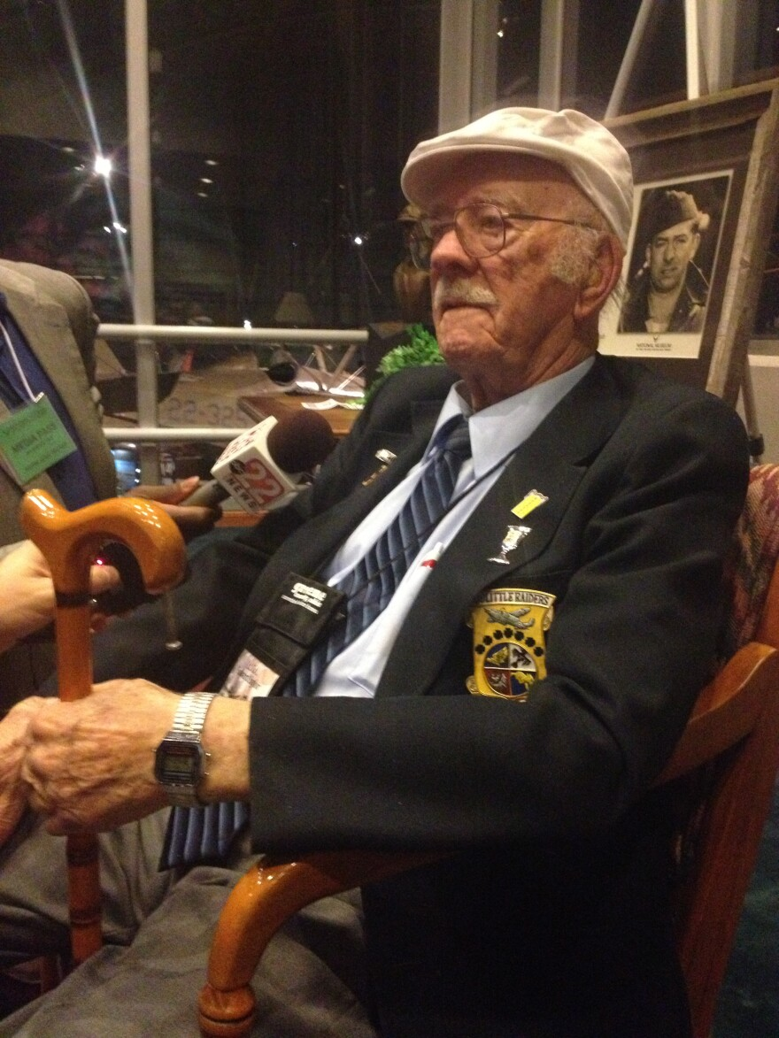 Lt. Col. Edward Saylor Talks to press in 2013, hours before the four remaining Doolittle Raiders raise their final toast.