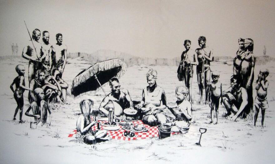 Banksy's <em>Picnic, </em>2005