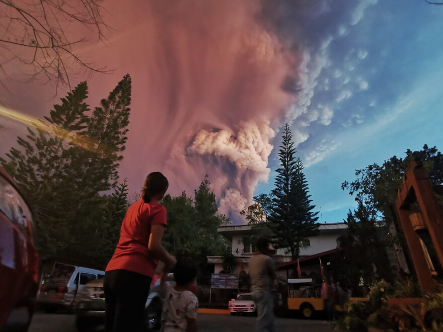 Taal Volcano, on the island of Luzon in the Philippines, is the country's second-most-active volcano. It boomed to life on Sunday, spilling volcanic ash. Government officials have ordered preemptive evacuations in all nearby communities.