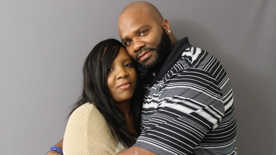 Brandy and De'Marchoe Carpenter got married two years ago — 13 days after he was released from prison. They started dating in 1994, but before they had their first kiss, he was arrested for a crime he didn't commit.