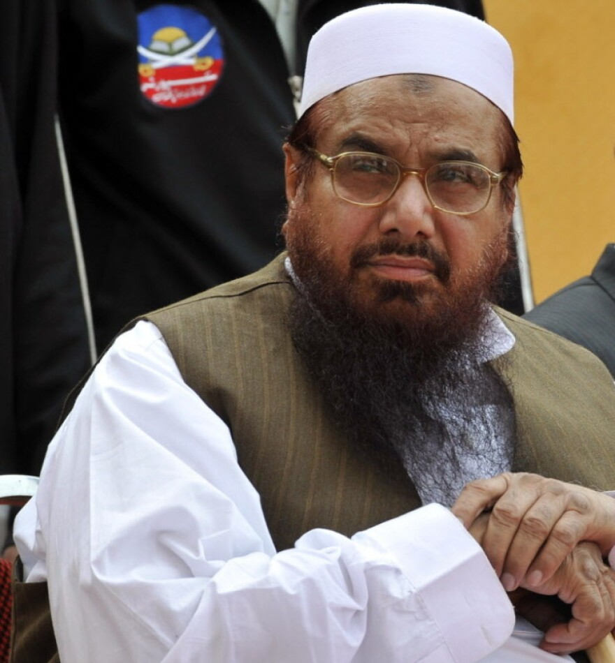 An April 2011 file photo, taken in Islamabad, of Hafiz Mohammad Saeed.