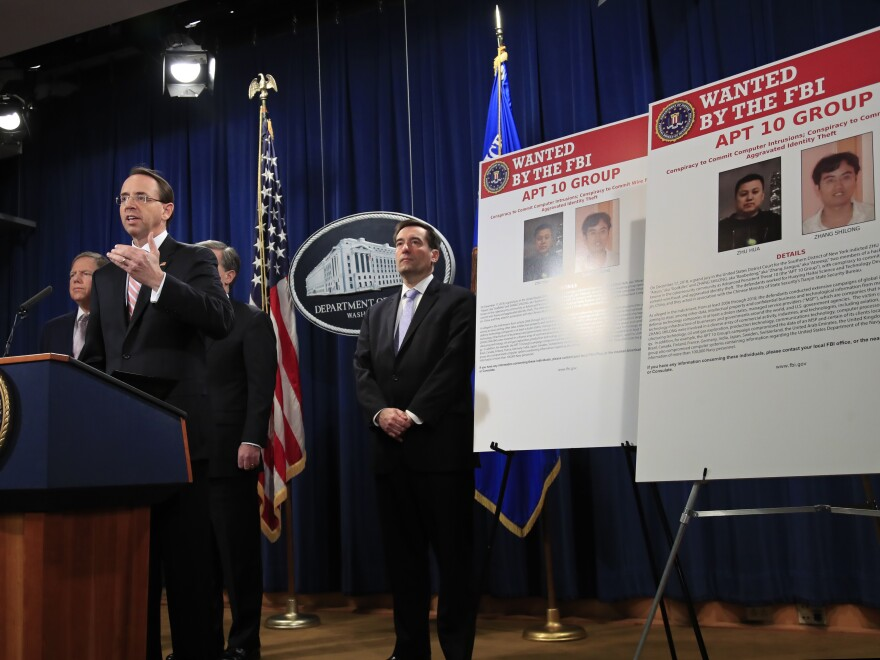 Deputy Attorney General Rod Rosenstein announced charges against alleged Chinese hackers at the Justice Department. But an increase in indictments hasn't led to a decrease in cyberattacks.