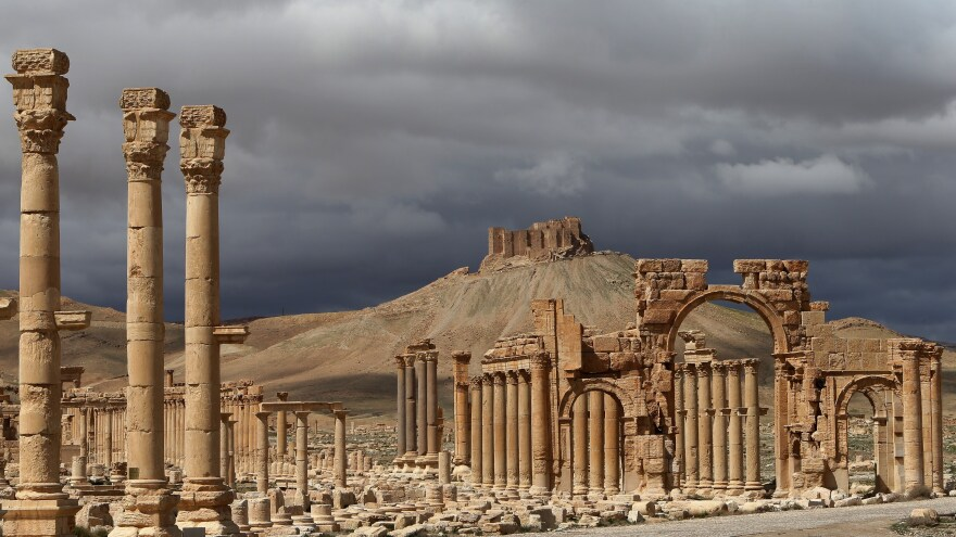 A photo from 2014 shows ancient ruins of Palmyra that date back 1,800 years. Much of it has now been destroyed by ISIS.