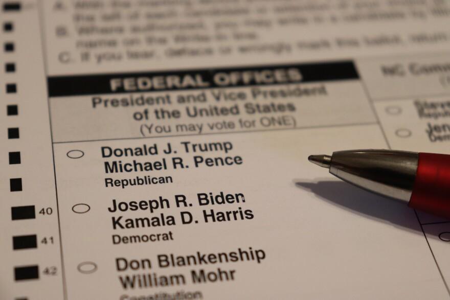2020 Presidential Ballot With Pen