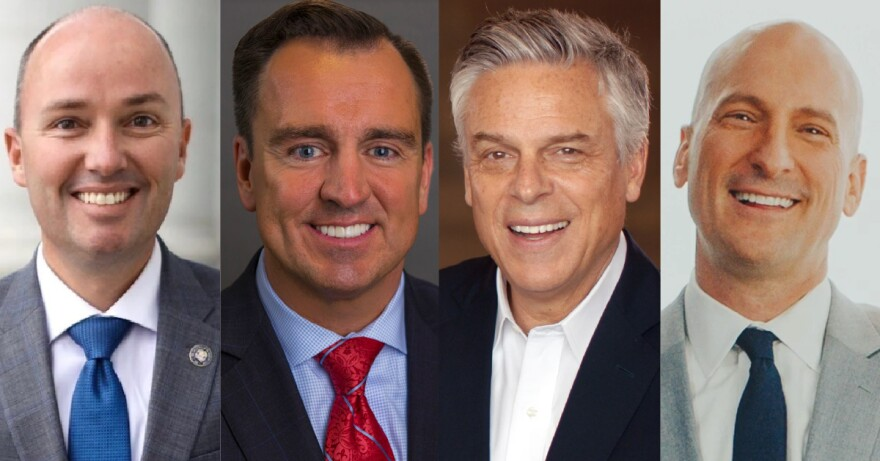 Photo of Utah Republican gubernatorial candidates.