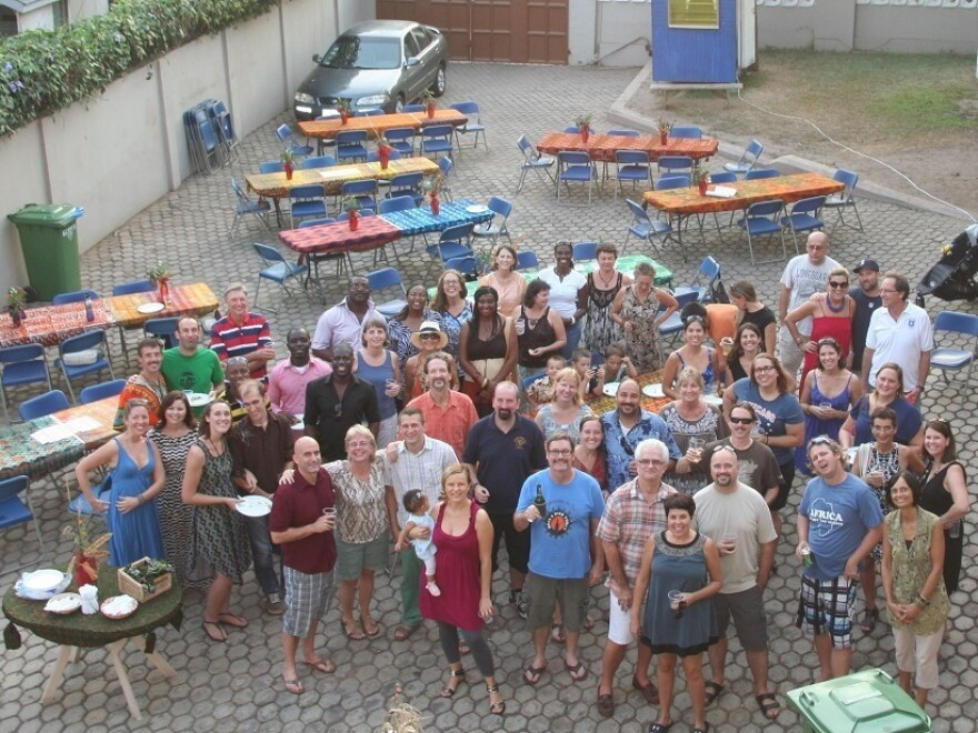 Expats' Thanksgiving at Lincoln Community School in Ghana.