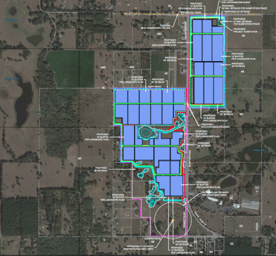 """Location of """"Mountain View Solar"""" project plan"""