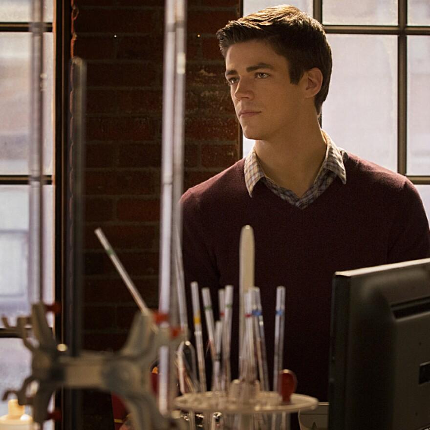 Grant Gustin as Barry Allen on <em>The Flash</em>.