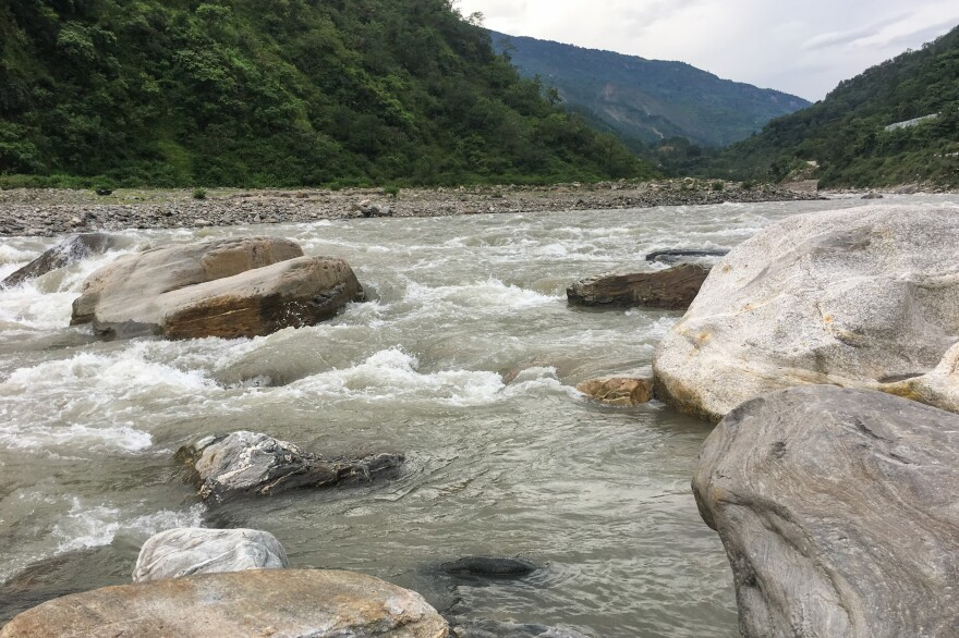 Uttarakhand, straddling the Himalayas, has an abundance of natural streams and rivers. The headwaters of the Ganges are in this northern state.  But river water doesn't feed agriculture — it's too difficult to pipe the water up.  Villages are rain and snow-fed.