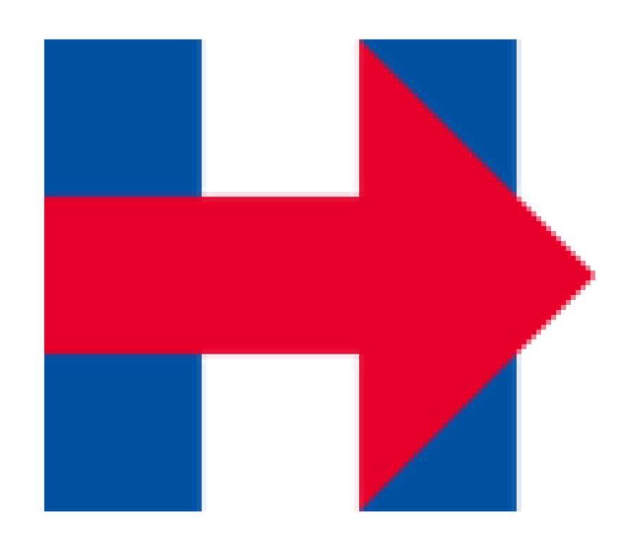 The original 2016 Hillary Clinton presidential campaign logo.