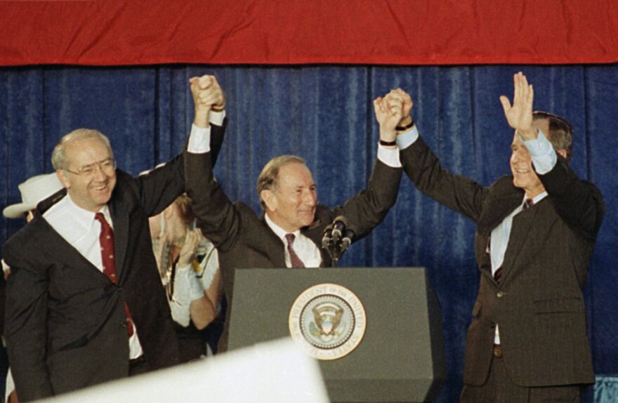 Clayton Williams with George H.W. Bush and Phil Gramm