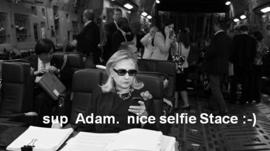 Part of the contribution Secretary of State Hillary Rodham Clinton (or someone on her staff, of course) made to Texts from Hillary.