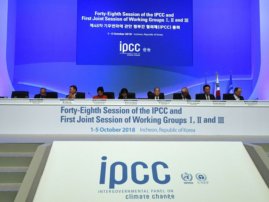 The United Nations Intergovernmental Panel on Climate Change met in Incheon, South Korea, in October 2018. The pandemic has forced scientists around the world to write the latest U.N. climate report without meeting in person.