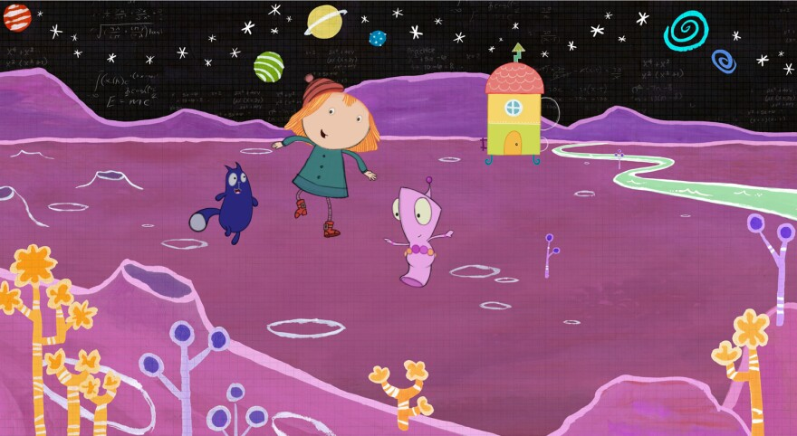 """The Space Creature Problem"" -- Peg, Cat and Richard must get the chickens away from Big Mouth and back to their spaceship. (Episode 101B)"