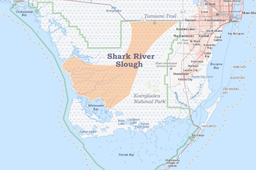 Shark River Slough map