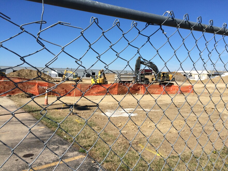 Construction started last week on PSA Airline's expansion.