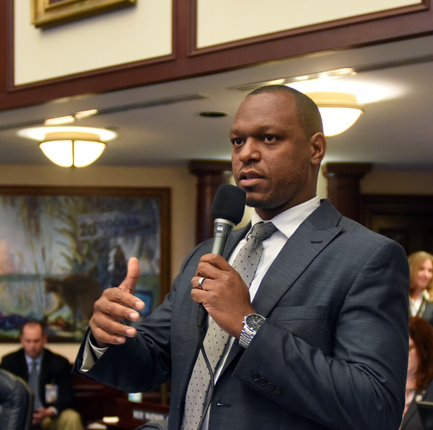 Then Rep. Randolph Bracy (D-Ocoee) debating on the House floor.