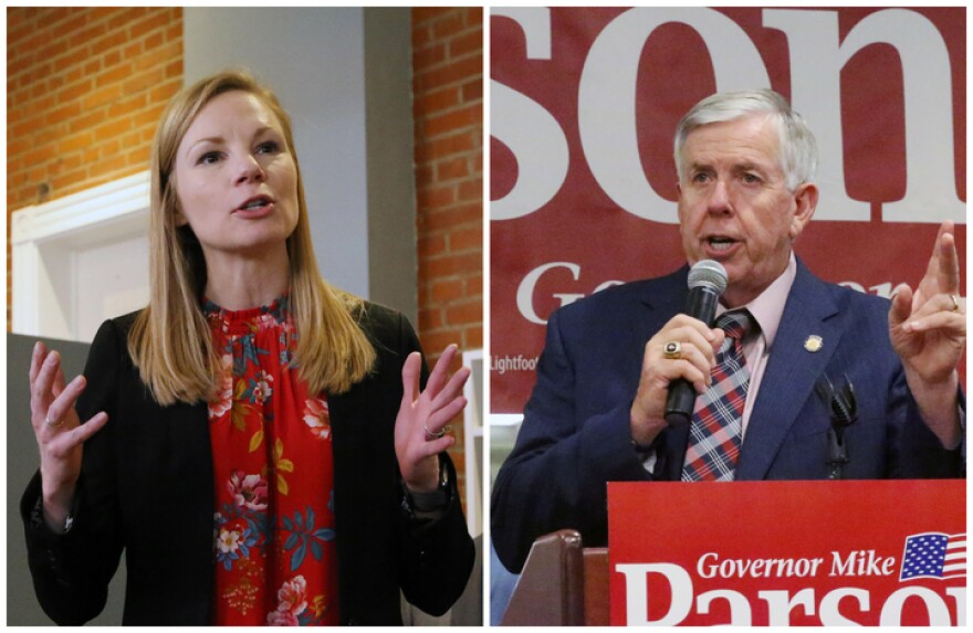 State Auditor Nicole Galloway and Gov. Mike Parson will likely square off each against each other in the 2020 Missouri gubernatorial contest.