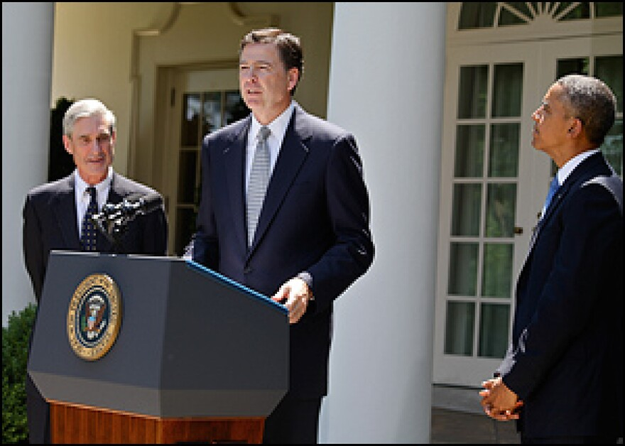 James Comey speaks at the White House following his nomination by President Barack Obama in 2013.
