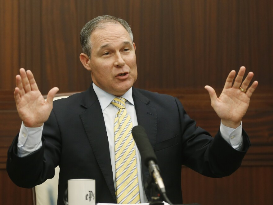 Oklahoma Attorney General Scott Pruitt, shown in 2013, is President-elect Donald Trump's pick to head the EPA. Pruitt's outspoken criticism of climate change and his close ties to the energy industry have raised concerns about his ability to lead the agency.