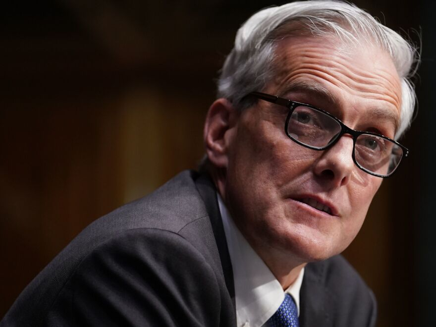 """Denis McDonough, who was confirmed on Monday as Secretary of Veterans Affairs, said he's been directed by President Biden """"to focus on getting our veterans through this pandemic."""""""