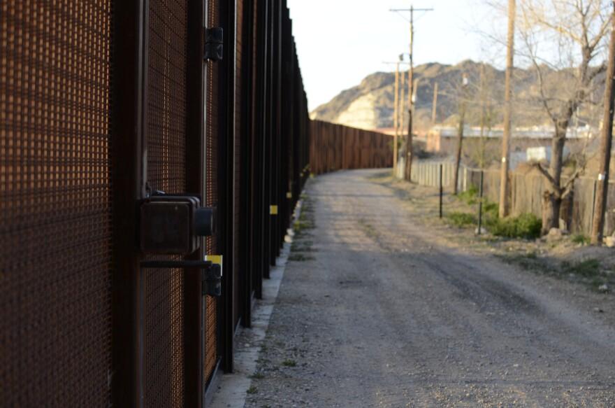 The border fence between El Paso and Juarez.