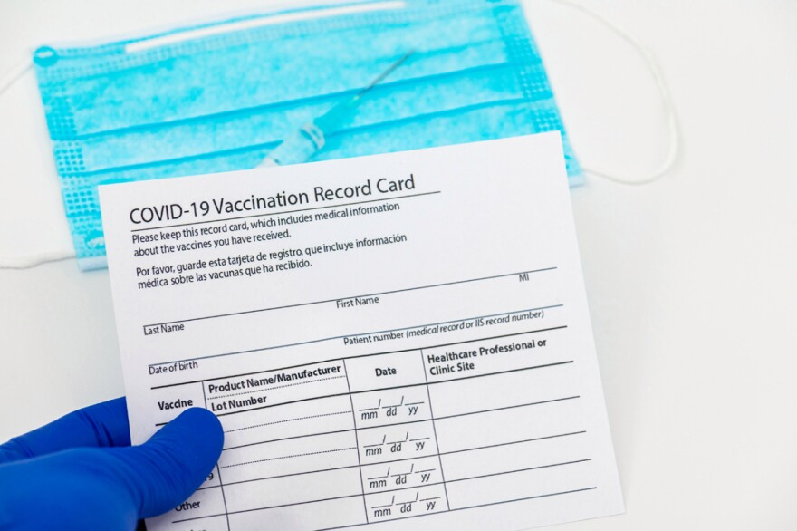 A COVID-19 vaccination form