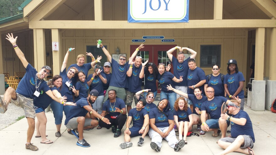Camp Sunrise staff in 2015
