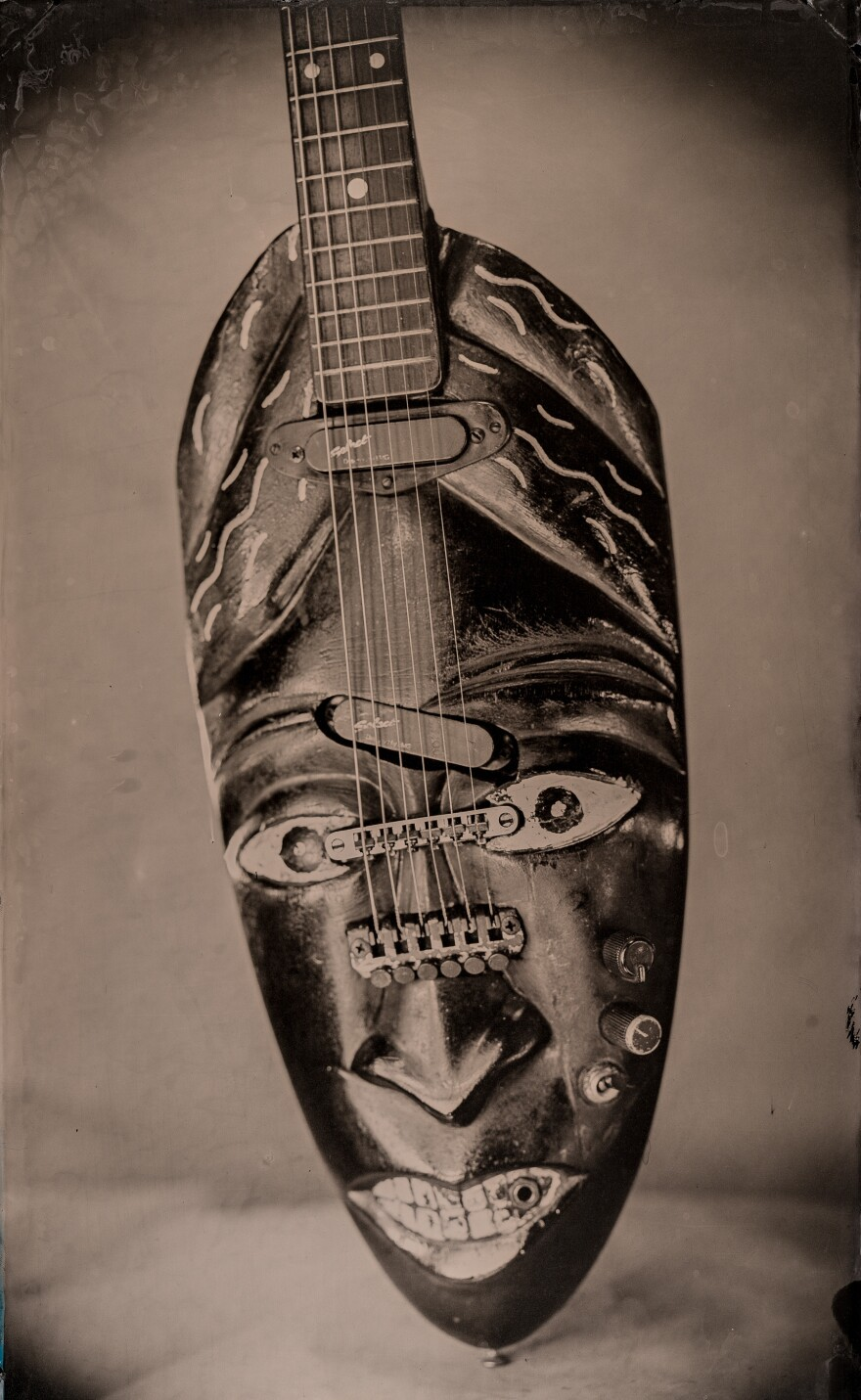 Freeman Vines' Death Mask guitar.