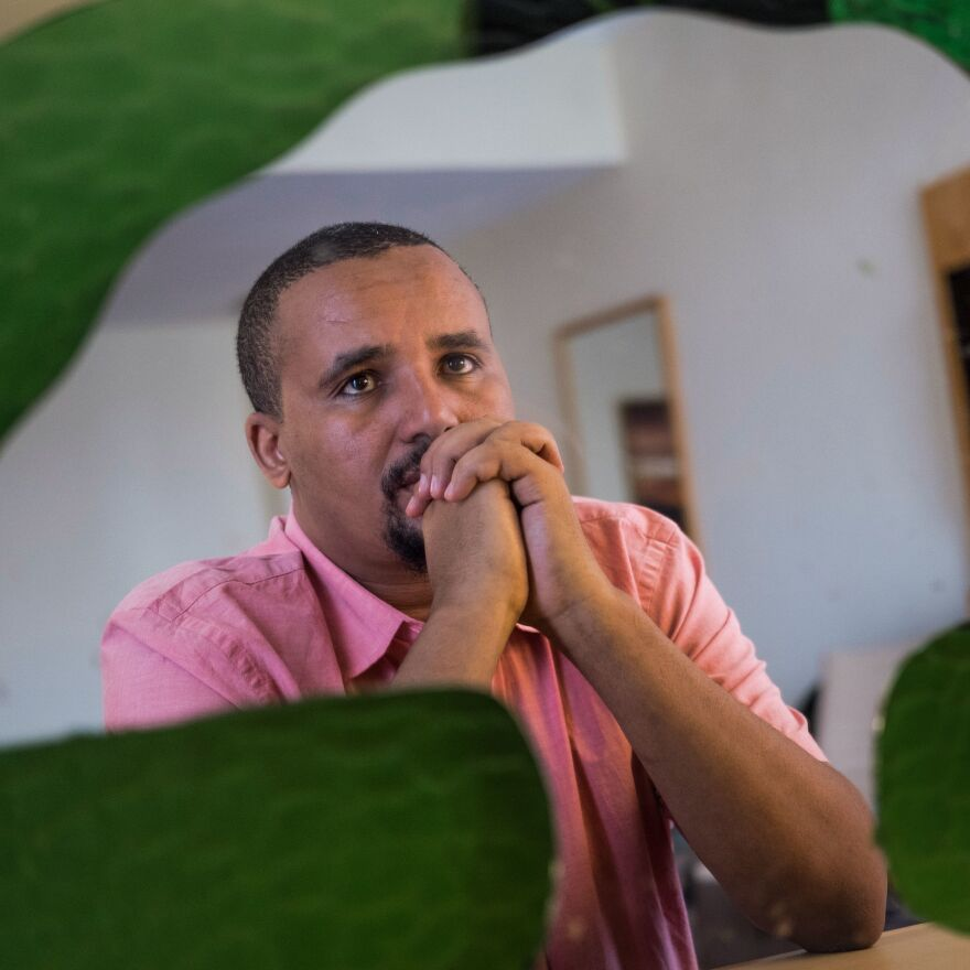 Activist Jawar Mohammed founded a media network and has accrued a sizable following. Hundreds of his supporters turned out Wednesday to express their support.