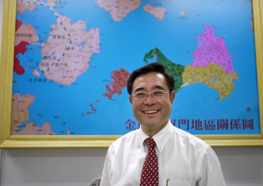 Kinmen Island Deputy Magistrate Wu Cheng Dian hopes to open his island to more business from mainland China. He'd like to build a bridge to the mainland and allow mainland Chinese to buy property on Kinmen. Taiwan's national government does not agree.
