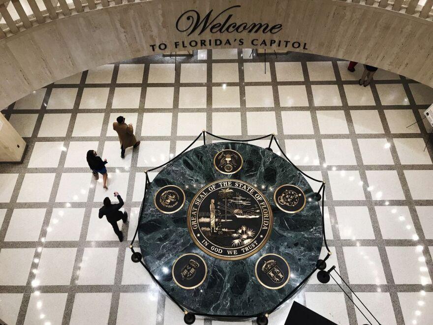 Overhead shot of Capitol building interior