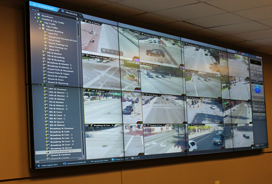 Photos from the cameras would be displayed at the real-time crime center at St. Louis Metropolitan Police headquarters.