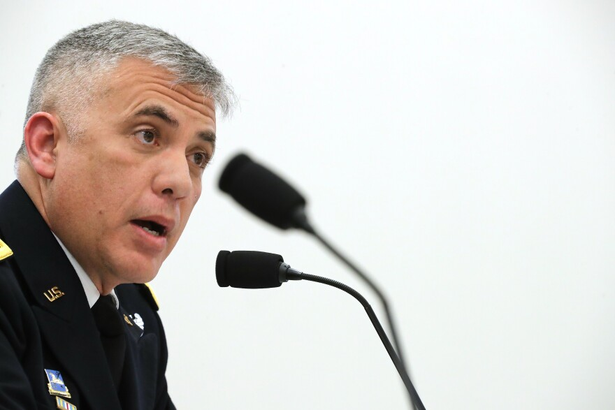 """Gen. Paul Nakasone, the National Security Agency director, told NPR ahead of the 2020 elections that the U.S. was """"going to expand our insights of our adversaries. ... We're going to know our adversaries better than they know themselves."""""""
