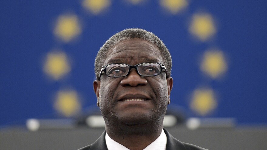 Dr. Denis Mukwege, a gynecologist in the Democratic Republic of Congo, treats victims of rape, tending to physical and emotional needs. For the past several years he has been considered a strong contender for the Nobel Peace Prize along with two women from Congo who aid victims of sexual violence.