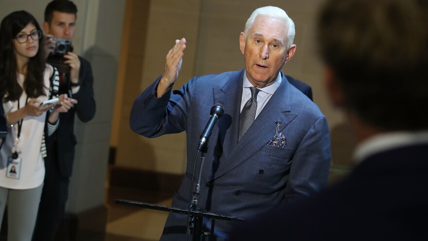 "Roger Stone has downplayed his discussions about WikiLeaks with the Trump campaign: ""What I am guilty of is using publicly available information and a solid tip to bluff, posture, hype and punk Democrats on Twitter."""