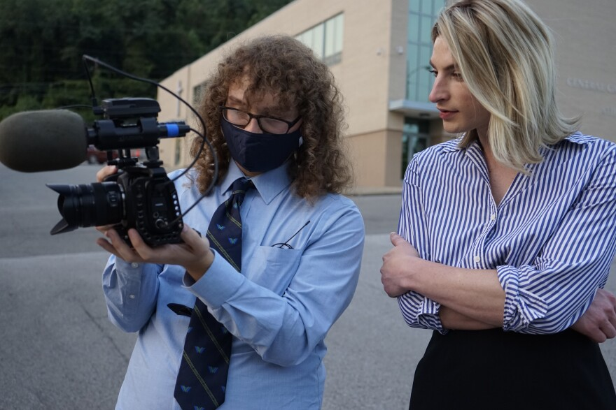 Producer Corey Knollinger (left) and Rosemary Ketchum