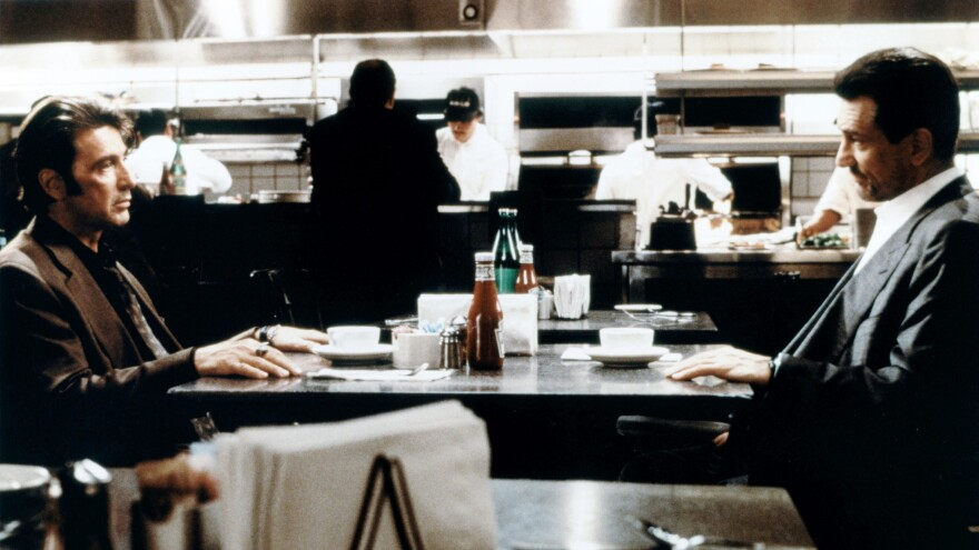 A Lonely Place of Dining: In the 1995 crime thriller <em>Heat</em>, Al Pacino and Robert De Niro famously shared the screen when their characters called a temporary truce.