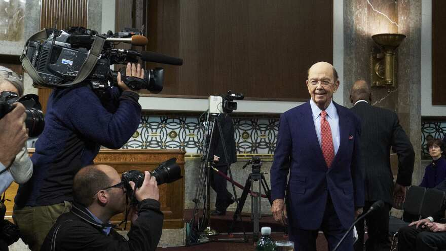 "Billionaire investor Wilbur Ross, Commerce Secretary nominee for U.S. President-elect Donald Trump, arrives Wednesday for his Senate confirmation hearing. Ross is warning America's trading partners to practice ""fair trade"" and cut state control over business if they want access to the world's biggest economy."