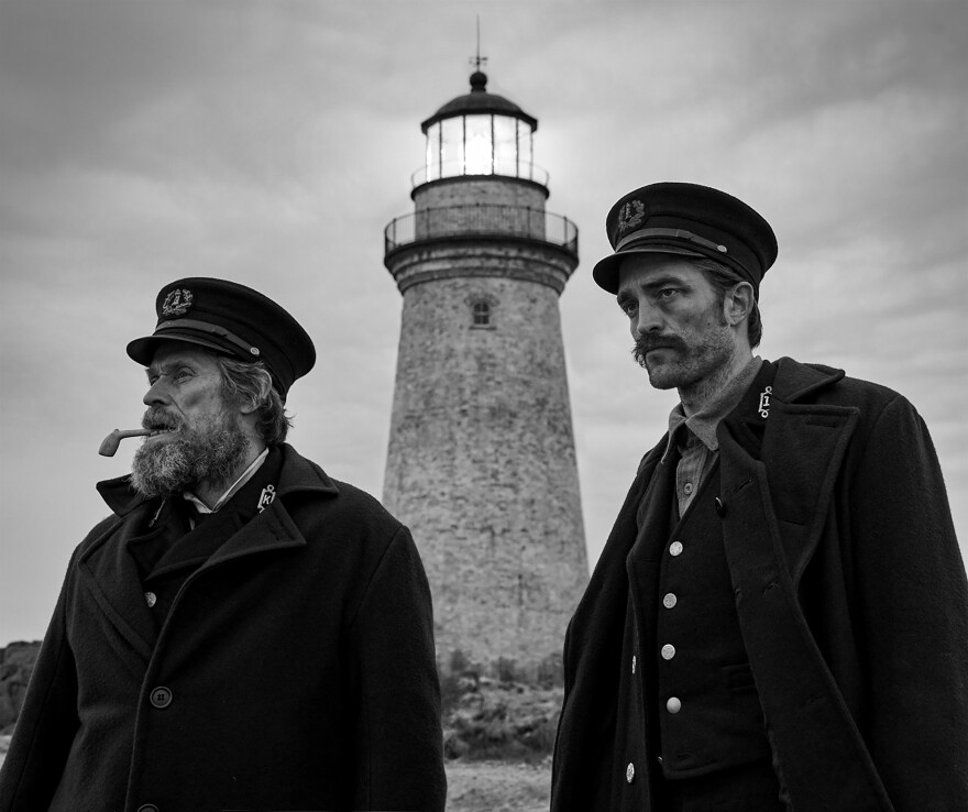 Williem Dafoe and Robert Pattinson star in <em>The Lighthouse.</em>