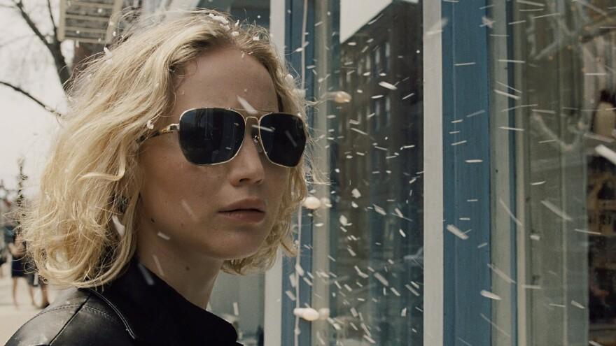 Jennifer Lawrence stars as Joy Mangano, the creator of the Miracle Mop, in the comic drama <em>Joy</em>.