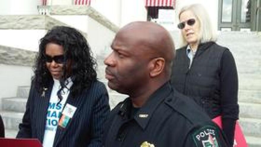 """Florida A&M University Police Chief Terence Calloway joins protest against """"guns on campus"""" legislation"""