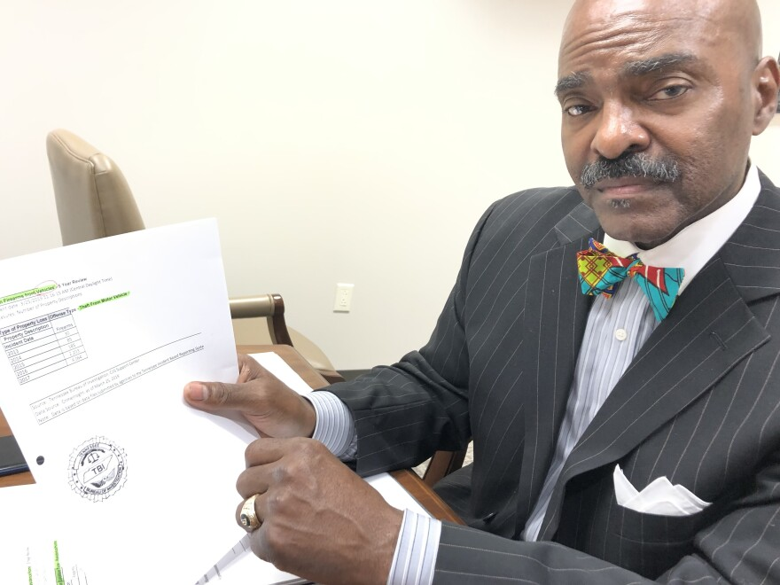 State Rep. G.A. Hardaway traces the spiraling number of firearms stolen from cars back to legislation passed earlier in the decade.