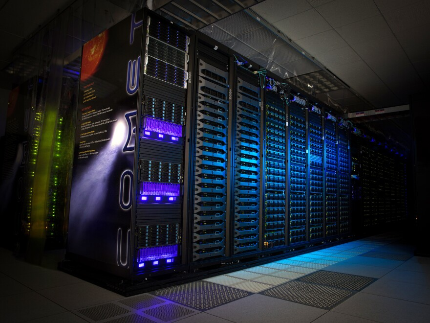 The Comet supercomputer at the center at the University of California, San Diego, has a computing speed of 2.76 petaflops, or about 2 million smartphones.