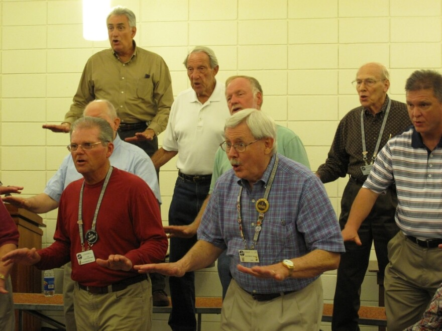 <p>Members of the Palmetto Statesmen, a barbershop chorus, say they think the Republican Party has lost its way. Currently, many say they favor candidate Herman Cain.</p>