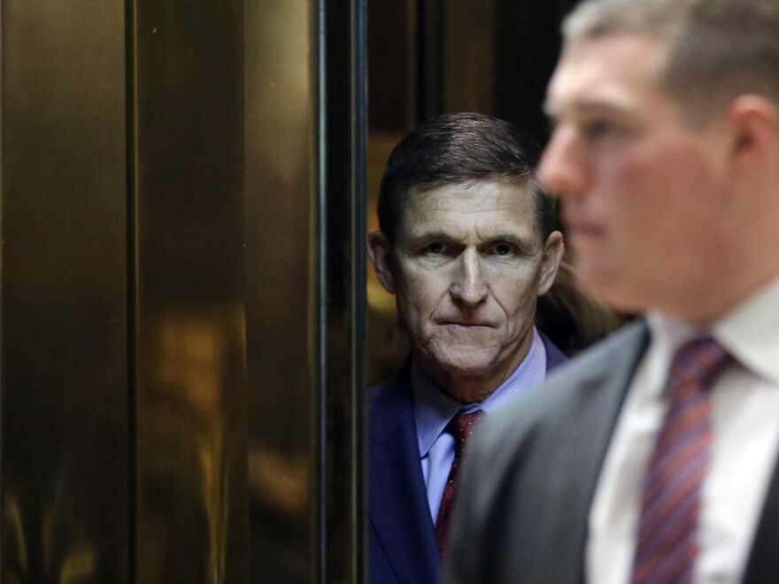 Michael Flynn, here at Trump Tower in December 2016, spent less than a month in the role of President Trump's national security adviser.