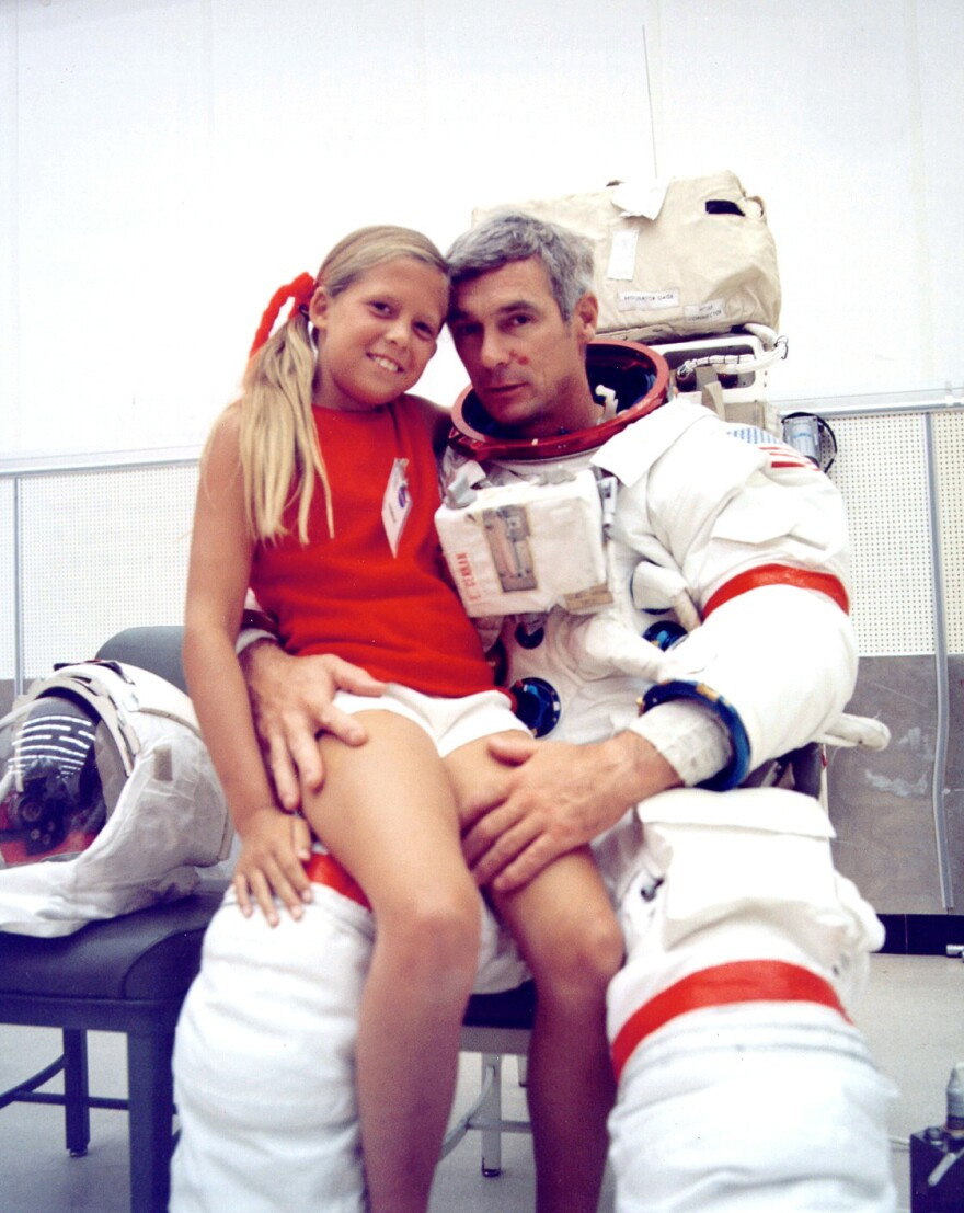 Tracy and her astronaut father, Eugene Cernan, in 1972.
