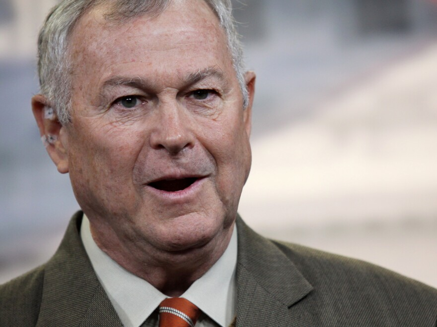 Rep. Dana Rohrabacher, R-Calif., speaks during a news conference on Capitol Hill in Washington, D.C., in 2013.