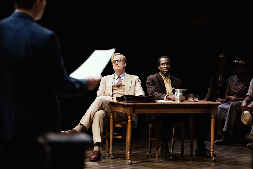 The new Broadway adaptation of <em>To Kill a Mockingbird </em>features Jeff Daniels as Atticus Finch and Gbenga Akinnagbe as Tom Robinson.
